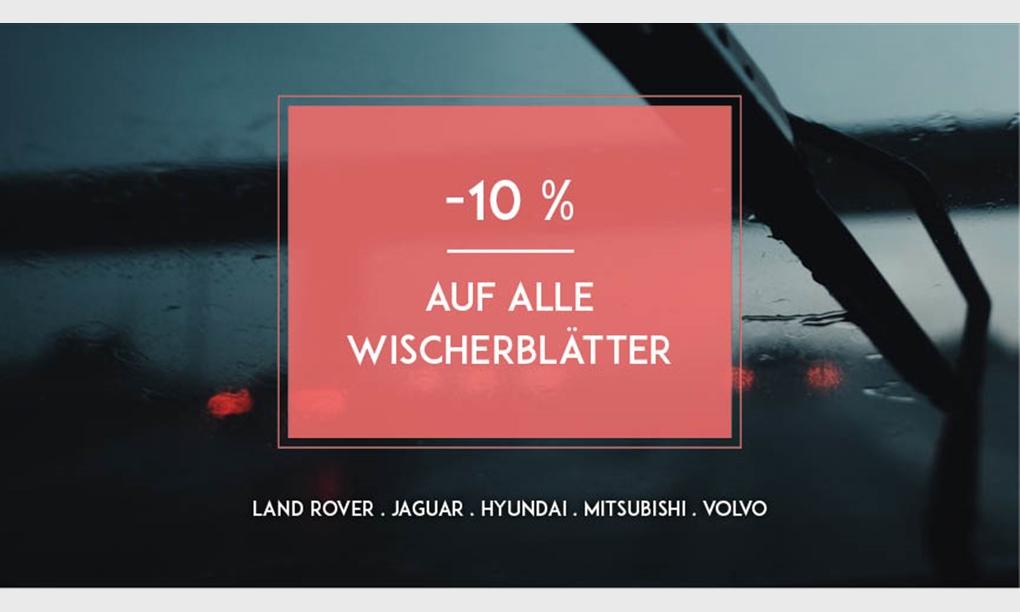 Aktion -10% auf alle Wischerblätter