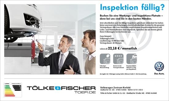 Foto des Serviceangebots Inspektion fällig? - Volkswagen