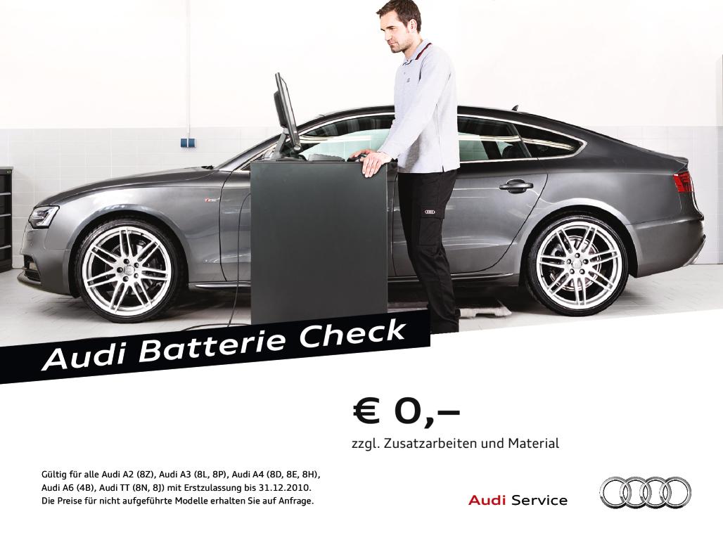 Foto des Serviceangebots Audi Batterie Check.