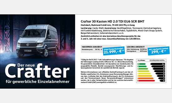 Foto des Serviceangebots Der neue Crafter 30 Kasten HD 2.0 TDI