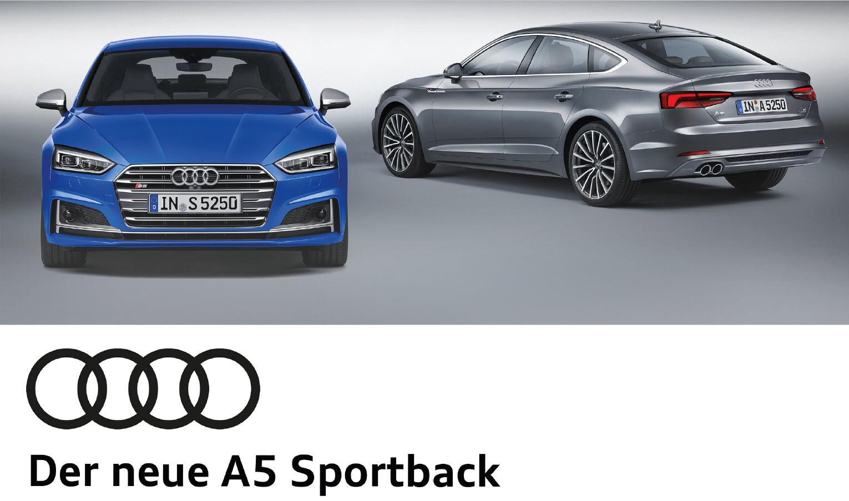 Angebot: der neue A5 Sportback für Businesskunden