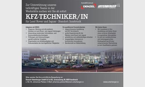 Foto des Stellenangebots KFZ Techniker/in für Land Rover und Jaguar