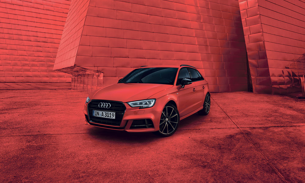 Anzeige: Welcome to Black. Audi A3 Black Edition.