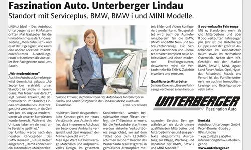 Foto der News Autohaus Unterberger als Gastgeber der Immobilienmesse