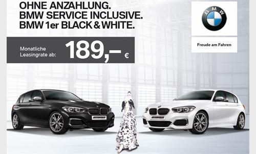 Foto der News BMW Black & White Ohne Anzahlung. BMW Service Inclusive