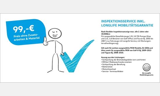 Foto des Zubehörangebots VW Inspektionservice inkl. Longlife Mobilitätsgarantie