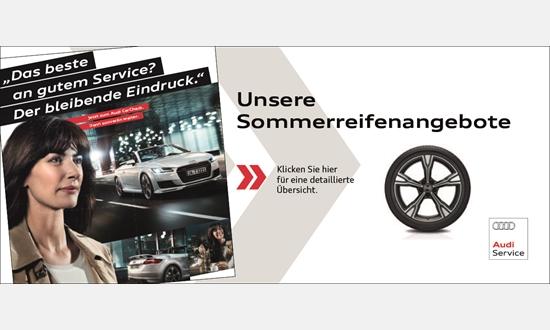 Foto des Zubehörangebots Audi Sommerreifenangebote