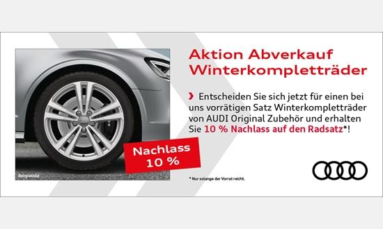 Foto des Zubehörangebots Audi Winterkompletträder